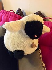 "Adorable Happy Mates Stuffed Lamb/Brass Bell/15""/Wooly/Soft/Cuddly/Pink Nose!"
