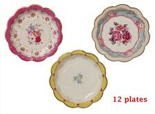 Paper Plates Tableware Serving Scrumptious Cake Snacks Dessert Dinner Tea Party