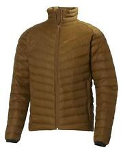 HELLY HANSEN Mens Mossy Rock Brown Verglas Down Insulator Jacket Large BNWT