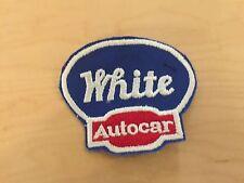 """trucking patch white(trucks) autocar , nos.,60's,3.5"""" widex3"""" high"""