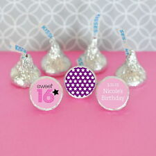 108 Personalized Sweet 16/15 Theme Hershey's Kisses Labels Birthday Party Favors
