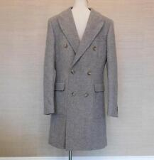 $495 JCrew Ludlow Double Breasted Topcoat English Wool 36S Light Grey c8737 Coat