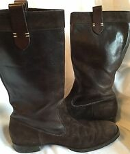 $800.00 Henry beguelin Brown suede Leather boots Size 38