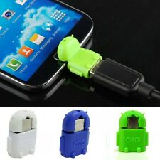Mini Micro USB 2.0 OTG Robot Transfer Adapter Converter For Android Phone Tablet