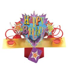 Happy Birthday Pop-Up Greeting Card Original Second Nature 3D Pop Up Cards