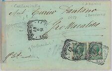 ITALIA REGNO - Storia Postale: CARTOLINA con annullo tondoquadro LEONFORTE 1907
