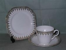 Vintage Stanley Bone China Trio Gilt & Red Dots 527 Tea Cup Saucer Side Plate