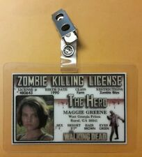 The Walking Dead ID Badge - Zombie Killing License Maggie Greene cosplay costume