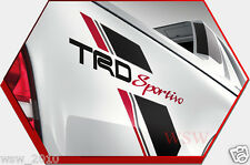 "REAR BLACK STICKER ""TRD SPORTIVO"" DECAL FOR TOYOTA HILUX VIGO CHAMP SR5 2005-14"