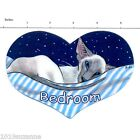 ORIGINAL DESIGN BLUEPOINT SIAMESE CAT PAINTING BEDROOM SIGN BY SUZANNE LE GOOD