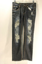 Machine Womens Dark Wash Distressed Style Jeans Size 29 In EUC Light Smoke Smell