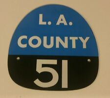 "LA COUNTY 51 ""EMERGENCY 51"" FIRE HELMET SHIELD"