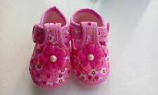 baby girls pink soft pram shoes size 6-12 months brand new