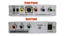 Component YPbPr YUV To Composite RCA S-Video With Component Video Pass-Through