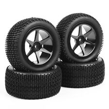 4XKF Rubber Off-Road Front&Rear Tires Wheel Rim For RC 1:10 Buggy Car HH0469