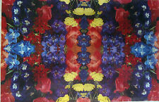 Vintage 1970s Kitsch Floral Kaleidoscopic Gift Wrapping Paper