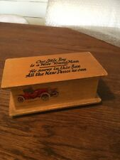 Vintage  Wooden Boys Money Box,Woodenware,Treen,Antique Boxes.