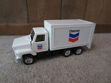 Rare Chevron Truck Delivery Ertl Pressed Steel Toy 1/25th