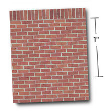"1/4"" Scale Dollhouse Wallpaper - A Ton of Bricks w/Free Embossing Tool (1:48)"