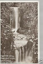 Dripping Well Fairlight Glen Hastings  _ Old Unposted Postcard