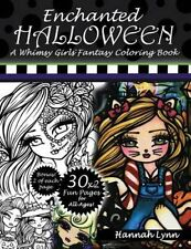 Enchanted Halloween A Whimsy Girls Fantasy Coloring Book 9781537086453