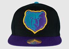 Mitchell & Ness Memphis Grizzlies Black/Purple Aqua Chenille Snapback