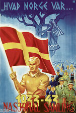 Norway Norge world war 2  propaganda poster NS