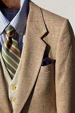 Daniel Hechter / Bullock's 38R Gentleman's Tan Herringbone Silk Sport Coat