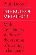 The Rule of Metaphor: Multi-disciplinary Studies of the Creation of Meaning in L