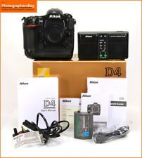 Nikon d4 digitale 16.2mp fotocamera DSLR Corpo, CARICA BATTERIA GRATIS UK