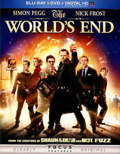 WORLDS END/Simon Pegg, Nick Frost/NEW BLU-RAY+DVD+DIG HD/BUY 4 ITEMS SHIP FREE