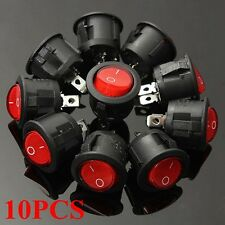 10x 6A/250V LED Coche Barco Interruptor Indicador ON-OFF SPST Switch Rocker Luz