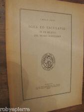 CARLO ANTI Igea ed Esculapio in un rilievo del museo Maffeiano Verona 1955 pro