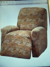 JERSEY RECLINER COVER-LAZY BOY ---LEOPARD----  WASHABLE ----VISIT OUR EBAY STORE