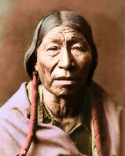 "CHEYENNE NATIVE AMERICAN INDIAN MALE 1910 8x10"" HAND COLOR TINTED PHOTOGRAPH"