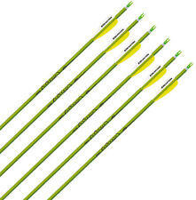 "Easton Genesis V2 Green 1820 Arrows w/ 3"" Vanes w/Nock and Point, 1/2 Dozen"