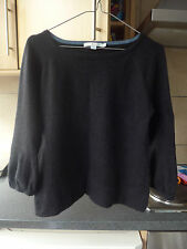 BODEN JUMPER 100% CASHMERE GRAPHITE BLACK BELL SLEEVE 14 GOOD CONDITION