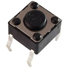 10 Diptronics DTS-61K-V Mini-Taster 12V 50mA 1xEIN 1N 6x4,3mm liegend 855604