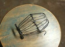 Steel Wire Bulb Cage - Clamp On Lamp Guard, Vintage Trouble Lights - Industrial