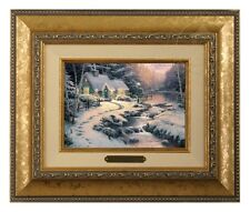 Thomas Kinkade Evening Glow - Brushwork (Gold Frame)