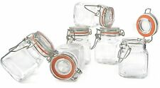 Grant Howard 50521 3.4-Ounce Square Clear Glass Spice Jar Set of 24 Small
