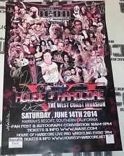 Ric Flair Roddy Piper +46 Signed House of Hardcore HOH 24x36 Poster PSA/DNA WWE
