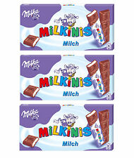 3x MILKA MILKINIS Cream Filled Milk Chocolate Sticks Candy Treat 87.5g 3.1oz