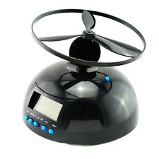 Cool!!! Alarm Clock Flying UFO Propeller Fly High Helicopter Blade LCD Digitat
