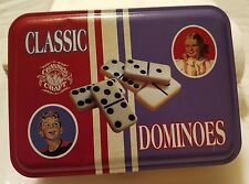 New Channel Craft Classic DOMINOES Made in USA Metal Tin Game