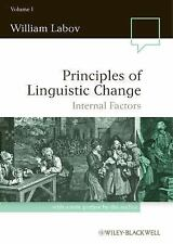 Language in Society: Principles of Linguistic Change Vol. 1 : Internal...