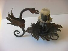 Antique Forged Iron Griffon Candlestick Candle Holder Gothic