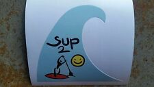 Stand up Paddle Boarding SUP Paddle Surfing Surf Decal Sticker Big Wave Surf