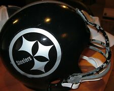 Pittsburgh Steelers Concept Decals Silver & Black Vintage Football Helmet(7 1/8)