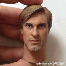 Custom 1/6 scale Aaron Eckhart Head Sculpt Two Face for Hot Toys Body